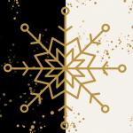 Una estrella de navidad en fondo nevado
